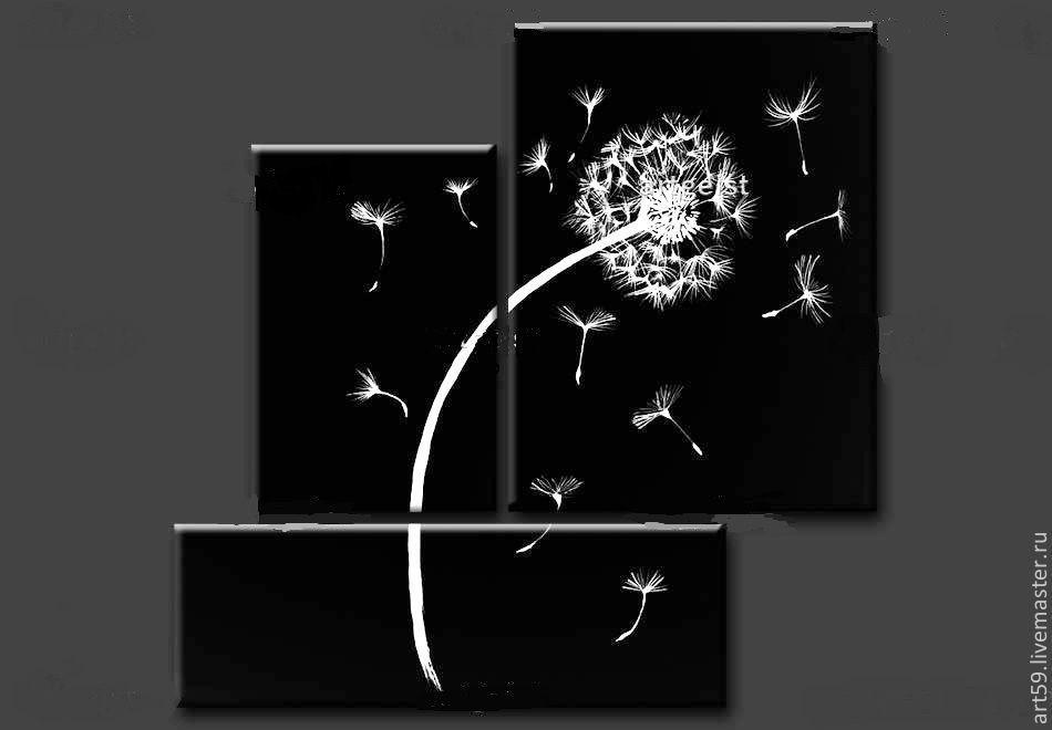 Triptych 'Dandelion' No. №1, Pictures, St. Petersburg,  Фото №1