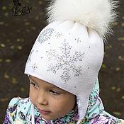 """Работы для детей, ручной работы. Ярмарка Мастеров - ручная работа Шапка для девочки  """"Снежная зима"""". Handmade."""