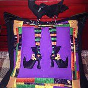 """Сувениры и подарки ручной работы. Ярмарка Мастеров - ручная работа Подушка """"Да ты ведьма!"""". Handmade."""
