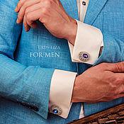 Украшения handmade. Livemaster - original item Studs:Ferhat. color: Bermuda in silver. Cufflinks handmade. Handmade.