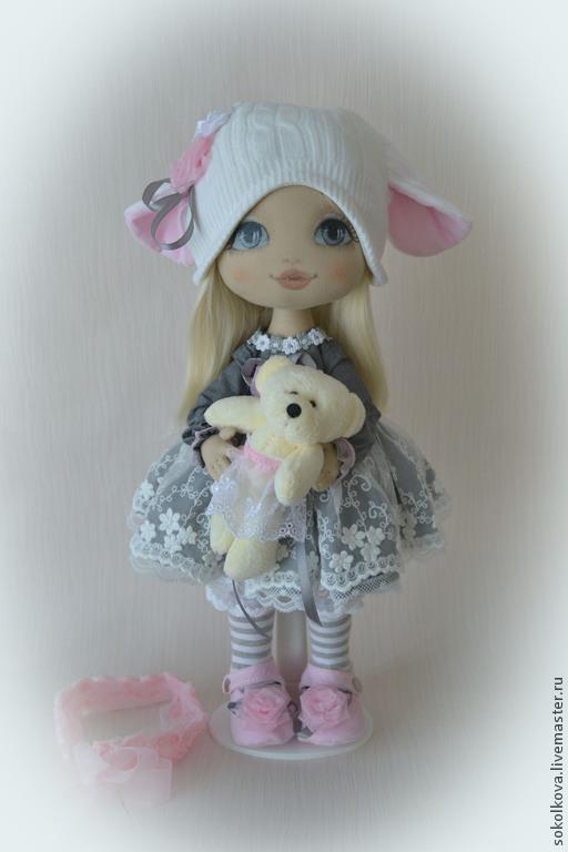 Коллекционные куклы ручной работы. Ярмарка Мастеров - ручная работа. Купить Танюшка. Handmade. Серый, кукла для девочки, синтепон