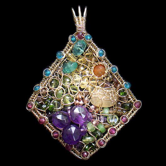 Pendants handmade. Livemaster - handmade. Buy Pendant 'Landscape'.Exclusive, designer jewelry, filled with gold (14kt gold fi