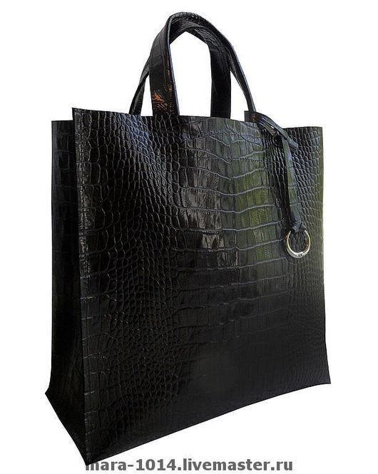 Женские сумки ручной работы. Ярмарка Мастеров - ручная работа. Купить black classic. Handmade. Черный, шопер, Кожаная сумка