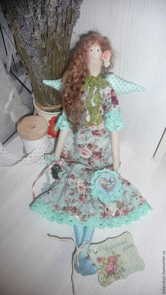 """Куклы Тильды ручной работы. Ярмарка Мастеров - ручная работа. Купить """" Бирюзовое утро""""!! Кукла интерьерная, тильда!!!. Handmade."""
