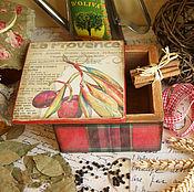 Для дома и интерьера ручной работы. Ярмарка Мастеров - ручная работа La Provence. Коробочка для специй. Handmade.
