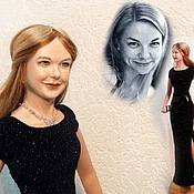 Куклы и игрушки ручной работы. Ярмарка Мастеров - ручная работа Lady in black  пример портретной куклы. Handmade.
