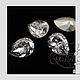 Для украшений ручной работы. Ярмарка Мастеров - ручная работа. Купить Капли Сваровски цвет Silver Patina (001SILPA)18х13 кристаллы Swarovski. Handmade.
