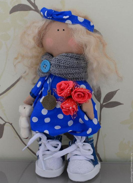 Коллекционные куклы ручной работы. Ярмарка Мастеров - ручная работа. Купить Малышка в горошек. Handmade. Кукла ручной работы