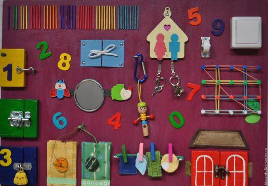 Развивающие игрушки ручной работы. Ярмарка Мастеров - ручная работа. Купить Развивающая доска, бизиборд. Handmade. Развивающая игрушка