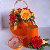 Цветы и флористика ручной работы. Ярмарка Мастеров - ручная работа Сумочка из конфет для маленькой леди, подарок девочке, букет, шляпка. Handmade.