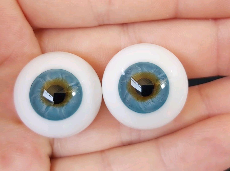 22 мм.#409 Глаза для кукол (стекло) Сфера, Глаза и ресницы, Минеральные Воды,  Фото №1