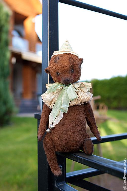 Мишки Тедди ручной работы. Ярмарка Мастеров - ручная работа. Купить Мишка-клоун. Handmade. Коричневый, тедди, опилки