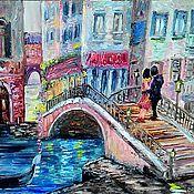 Картины ручной работы. Ярмарка Мастеров - ручная работа Картина маслом Весенняя Венеция. Handmade.