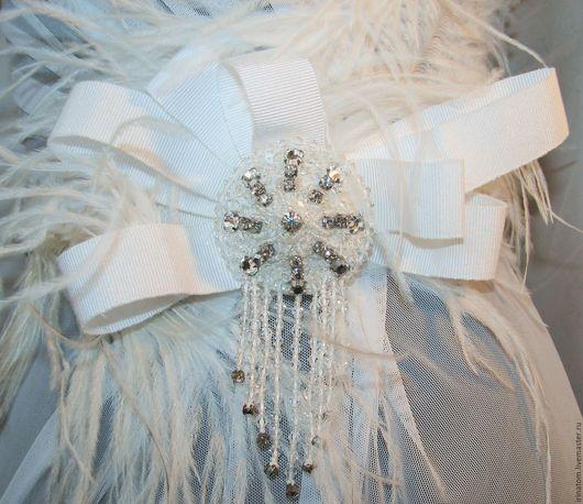 Свадебные украшения ручной работы. Ярмарка Мастеров - ручная работа. Купить Брошь для свадебного наряда. Handmade. Брошь свадебная