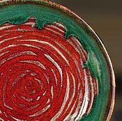 Посуда ручной работы. Ярмарка Мастеров - ручная работа Тарелка керамическая Оранжевый цветок. Handmade.