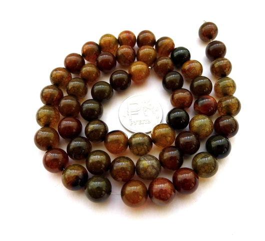Для украшений ручной работы. Ярмарка Мастеров - ручная работа. Купить Агат 37 камней набор бусины шар 10 мм гладкие. Handmade.