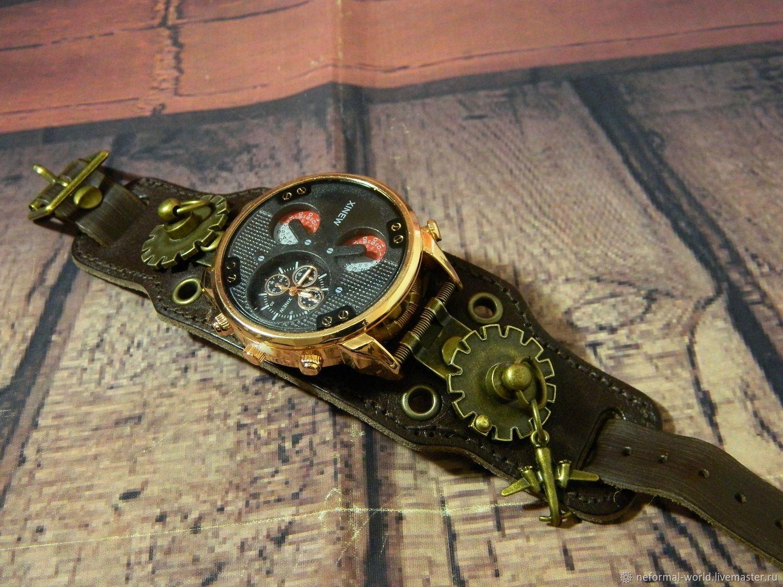 STEAMPUNK 'GOLD' QUARTZ WRIST WATCH, Watches, Saratov,  Фото №1