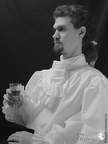 Романтическая рубашка в стилистике XVII-XVIII века. Индивидуальный пошив. Флана