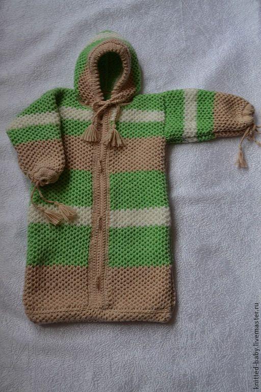Для новорожденных, ручной работы. Ярмарка Мастеров - ручная работа. Купить Спальный мешок-конверт для новорожденного. Handmade. Вязание спицами
