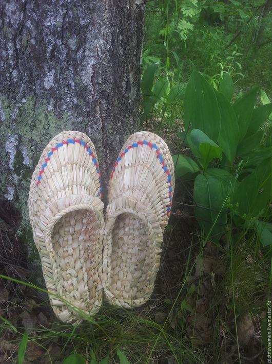 Обувь ручной работы. Ярмарка Мастеров - ручная работа. Купить Лапти плетеные любого размера. Handmade. Лапти, обувь для дома