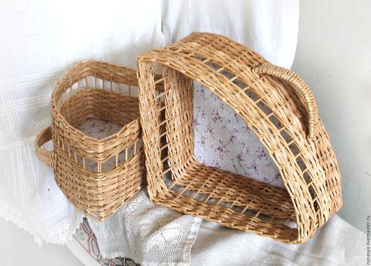 Корзины, коробы ручной работы. Ярмарка Мастеров - ручная работа. Купить Короб плетёный для хранения, треугольный для угловой полки. Handmade.