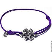 Украшения handmade. Livemaster - original item Mystical Knot Bracelet, 925 silver. Handmade.