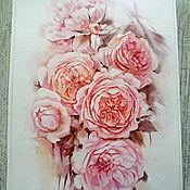Картины ручной работы. Ярмарка Мастеров - ручная работа Чайные розы. Handmade.
