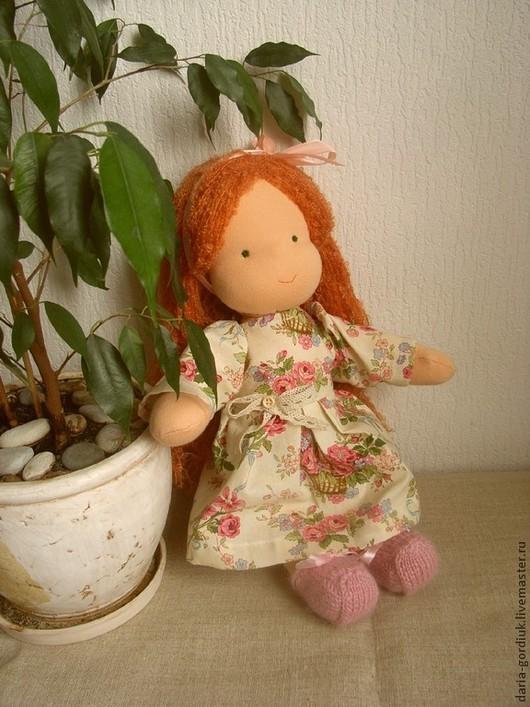 Вальдорфская игрушка ручной работы. Ярмарка Мастеров - ручная работа. Купить Вальдорфская кукла в костюмчике зайчика. Handmade. Ваьдорфкая кукла