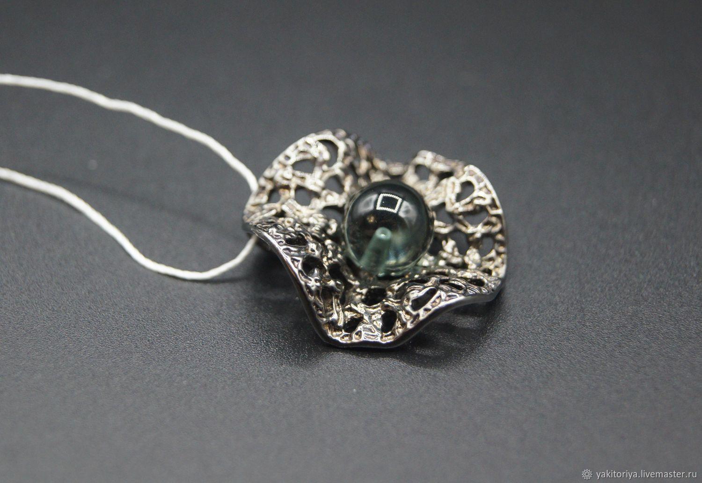Silver pendant with quartz, Pendants, Moscow,  Фото №1