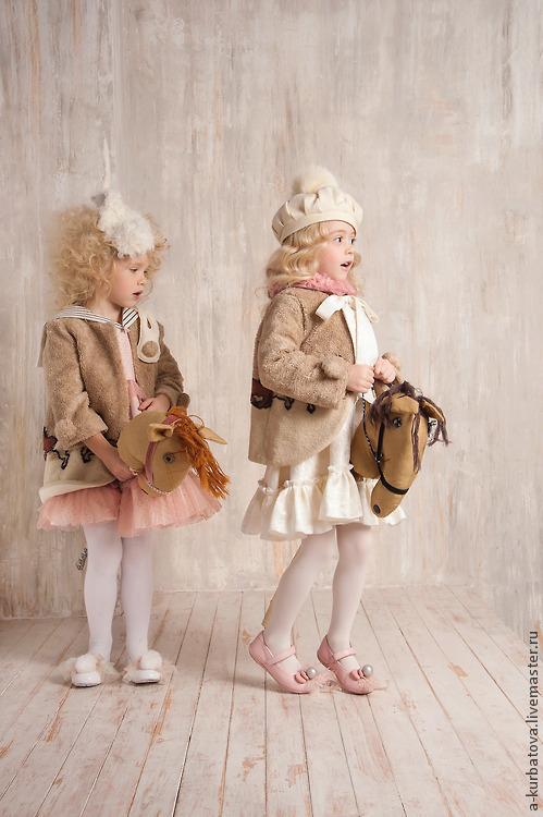 Одежда для девочек, ручной работы. Ярмарка Мастеров - ручная работа. Купить Комплект для девочки. Handmade. Кремовый, мех