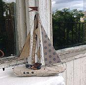 Для дома и интерьера ручной работы. Ярмарка Мастеров - ручная работа Кораблик `горох`. Handmade.
