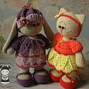 Материалы для творчества handmade. Livemaster - original item Master class on crochet cats Alice and Bunny Larissa. Handmade.