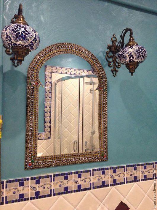"""Зеркала ручной работы. Ярмарка Мастеров - ручная работа. Купить Зеркало настенное """"Шахерезада"""". Handmade. Разноцветный, зеркало ручной работы"""