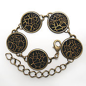 Украшения handmade. Livemaster - original item Gossamer bracelet color black. Handmade.