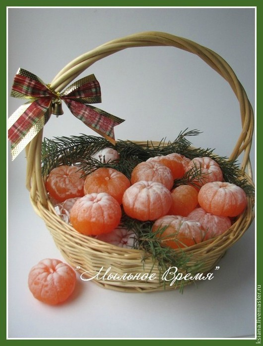 """Мыло ручной работы. Ярмарка Мастеров - ручная работа. Купить Мыло """"Мандарин"""". Handmade. Оранжевый, Новый Год, мыло"""