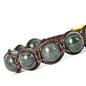 Украшения handmade. Livemaster - original item Shamballa bracelet with jade. Handmade.