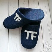 Обувь ручной работы handmade. Livemaster - original item Slippers - Classic. Handmade.