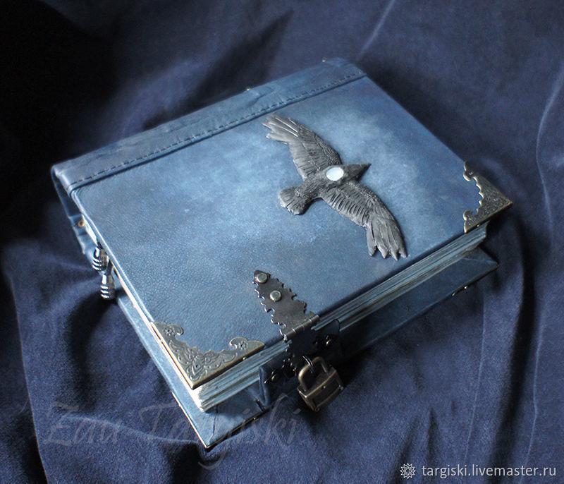 Книга теней с вороном и адуляром (на заказ), Гримуар, Москва,  Фото №1