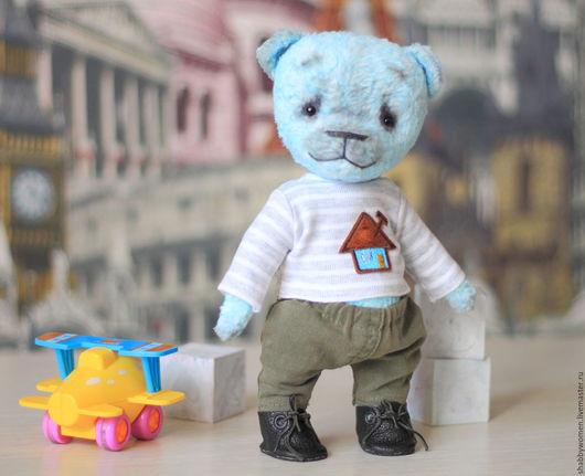 """Мишки Тедди ручной работы. Ярмарка Мастеров - ручная работа. Купить Мишка тедди """"Скай"""". Коллекция """"Нежнышки"""". Handmade. Бирюзовый"""