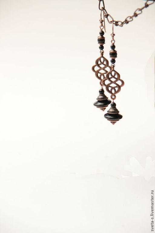 """Серьги ручной работы. Ярмарка Мастеров - ручная работа. Купить Серьги """"ГрАцИя"""". Handmade. Серьги, стильные украшения, большие серьги"""