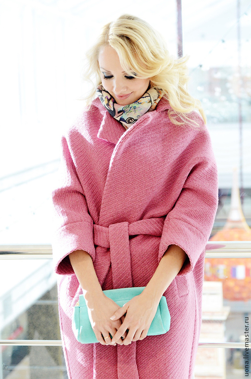 Верхняя одежда ручной работы. Ярмарка Мастеров - ручная работа. Купить Пальто шерстяное зимние, длинное, розового цвета. Handmade.