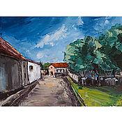 Картины и панно handmade. Livemaster - original item Oil painting European Town Cityscape. Handmade.