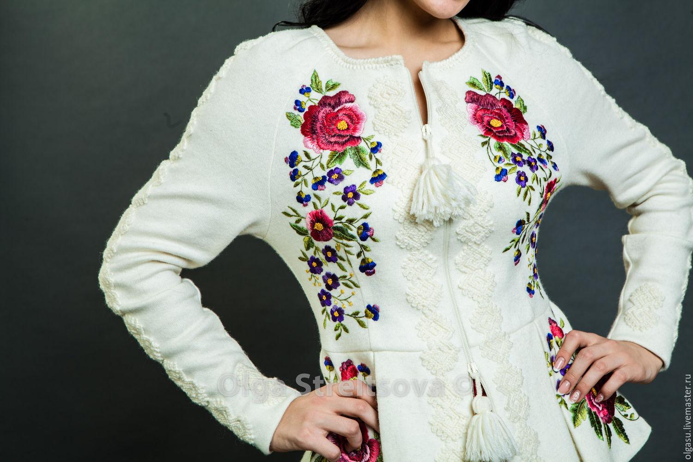 Вышивка на куртках в Москве, сделать вышивку бисером в Ателье 92