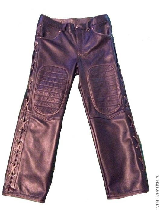 Брюки, шорты ручной работы. Ярмарка Мастеров - ручная работа. Купить Байкерские штаны. Handmade. Коричневый, пошив, кожа натуральная