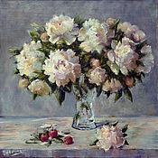 Картины и панно handmade. Livemaster - original item Oil painting on canvas Peonies, bouquet of flowers in a vase painting. Handmade.