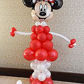 Подарки к праздникам ручной работы. Ярмарка Мастеров - ручная работа Минни Маус из воздушных шариков. Handmade.