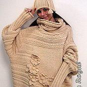 """Одежда ручной работы. Ярмарка Мастеров - ручная работа """"ЦВЕТЫ В КВАДРАТЕ"""" .......... свитер-платье. Handmade."""
