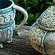 Кружки и чашки ручной работы. Печворк  на ножках. Керамика Натальи Ермаковой. Ярмарка Мастеров. Посуда из глины