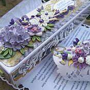 Свадебный салон ручной работы. Ярмарка Мастеров - ручная работа Открытка на свадьбу. Поздравительный свиток в коробочке.. Handmade.