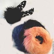 Украшения ручной работы. Ярмарка Мастеров - ручная работа Комплект из 4 резинок для волос из натурального кролиного меха. Handmade.